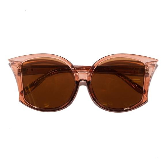 Retro 70s Big Fan Fin Sepia Sunglasses